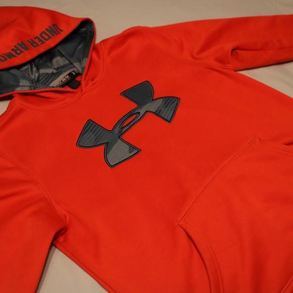 Under Armour Other - Under Armour Boys Orange Hoodie Sweater